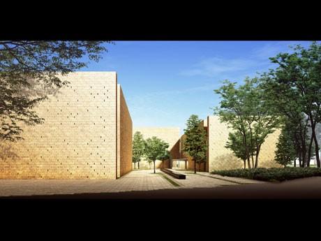明治神宮前に新設するキャンパス「外苑キャンパス(仮称)」の完成予想図