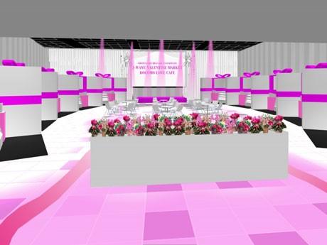 バレンタインチョコレートブランド10店が出店するJ-WAVEの期間限定イベント。写真=会場イメージ