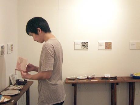 2007年に開催した「ぱらぱらマンガ 喫茶展」会場風景