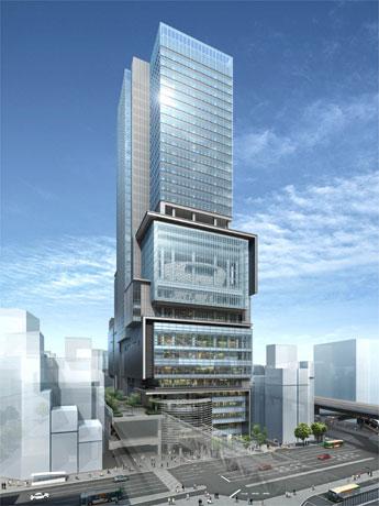 2012年春の竣工を予定する「渋谷ヒカリエ」の完成イメージ