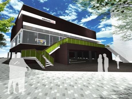3回目の登場となる「nakata.net cafe」の外観イメージ