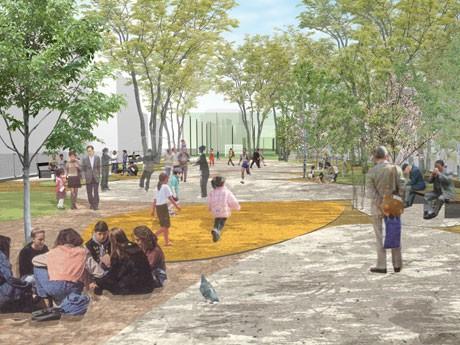新生「渋谷区立宮下公園」が来春誕生。写真=拡張予定の「憩いの広場」のイメージ図