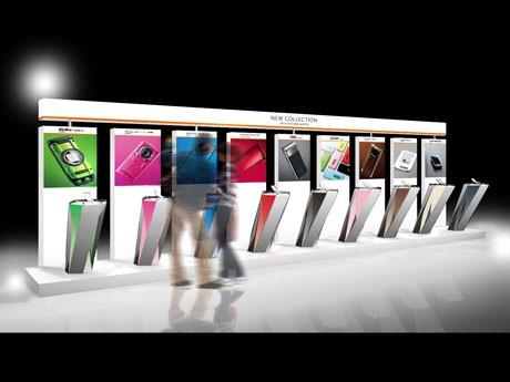 会場ではアンドロイドOSを搭載したスマートフォンなど12機種をひと足早く展示する(写真=展示イメージ)
