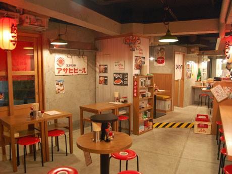 恵比寿にオープンした高知の老舗ギョーザ店「安兵衛」の店内