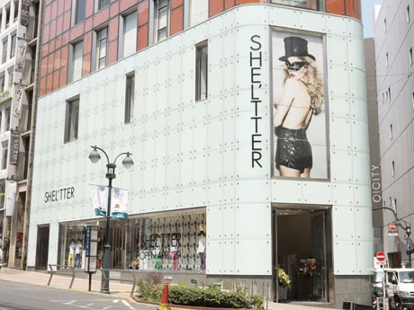 初の路面店で同業態の旗艦店となる「SHEL'TTER 渋谷店」の外観