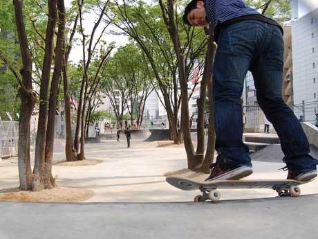 新設されたスケート場