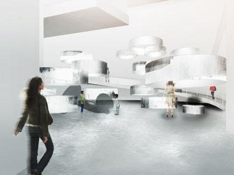 技術や合成樹脂や炭素材料などの素材を使いアーティスト21組が「KAITEKI」を表現した作品を展示する(写真=会場イメージ)