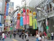 渋谷センター街で「七夕まつり」-最終日には浴衣姿の女子大生らが練り歩き