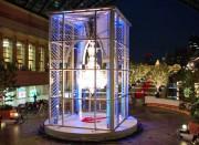 恵比寿ガーデンプレイス、バカラのシャンデリア点灯-1時間ごとに演出も