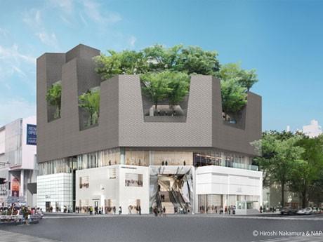 「東急プラザ 表参道原宿」に名称が決まった商業施設の外観イメージ