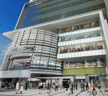 「渋谷ヒカリエ」の外観。地下3階~5階が新商業施設「ShinQs(シンクス)」となる