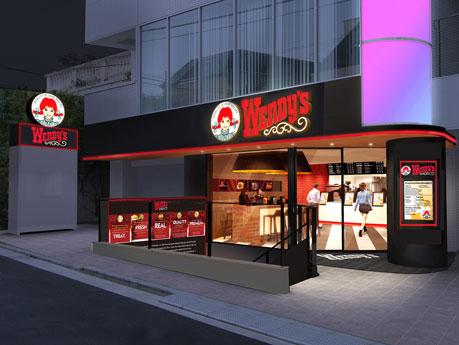 渋谷区神宮前5丁目に出店する「ウェンディーズ」日本再上陸1号店の店舗外観イメージ
