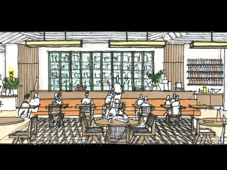 「bills」をプロデュースするビル・グレンジャーさんの自宅に招かれたような「リラックスした雰囲気」に仕上げる店内イメージ