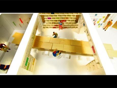 参加施設の一つであるシェアライブラリー「co-ba library」(写真は模型)