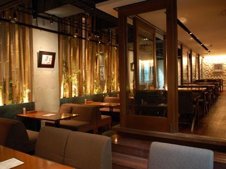 イタリアンレストラン「THE KITCHEN so-sho」の店内