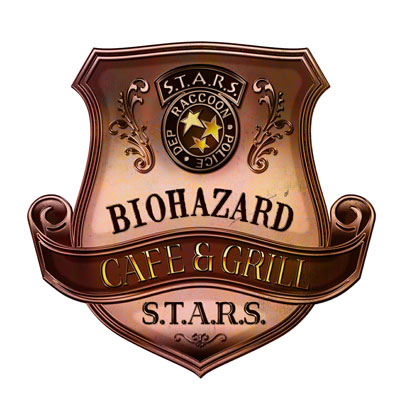 バイオハザードの公式レストラン「バイオハザードCAFE & GRILL S.T.A.R.S.」のロゴ