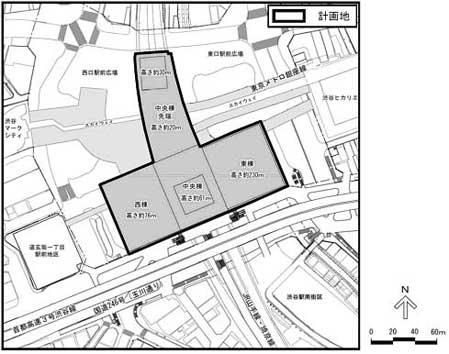 明らかになった渋谷駅街区開発事業・施設配置図