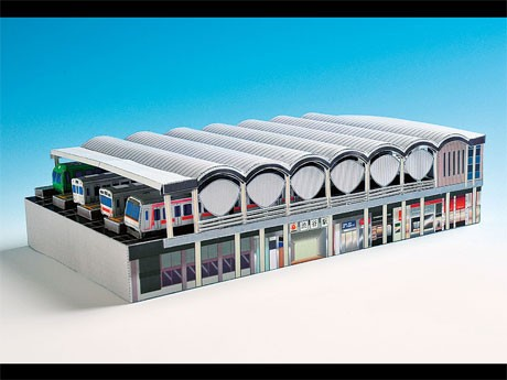 ペーパークラフト 電車