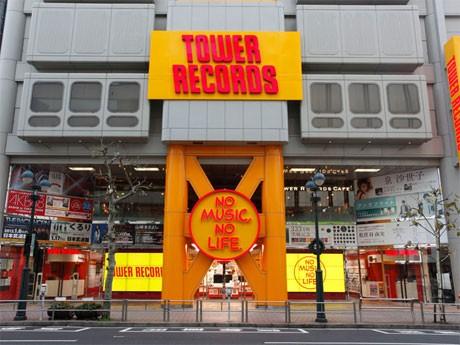 全面改装した「タワーレコード渋谷店」のファサード