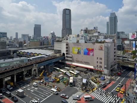 再開発が進む渋谷駅周辺