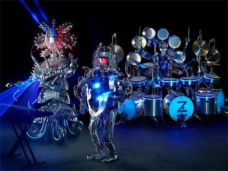 ギタリスト・ドラマー・キーボーディスト3体によるZ-MACHINES