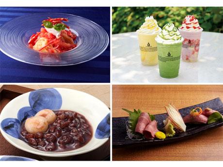 麺メニューやデザートなど各店で提供する夏季限定メニューのイメージ