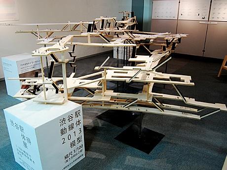 縮尺100分の1スケールで制作した渋谷駅の模型