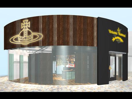 国内初の単独店となるラフォーレ原宿店の外観イメージ