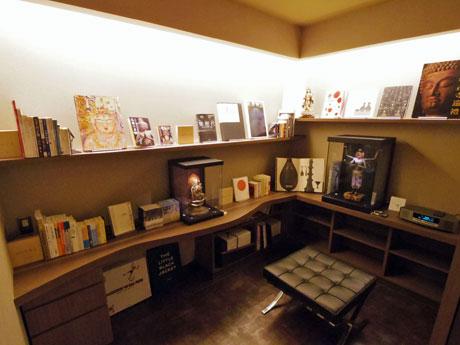 書斎風の空間を使ったライブラリー