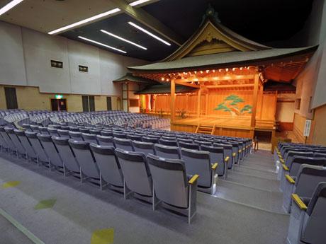 現在の観世能楽堂舞台
