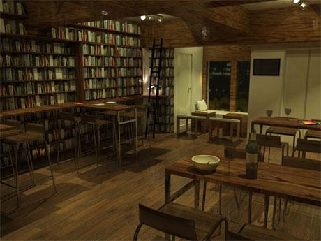 「落ち着いた雰囲気」のカフェバーをイメージする店内のイメージ