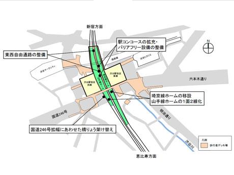改良工事の計画図(画像提供:JR東日本)