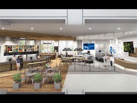 ロビーに併設するカフェの内観イメージ