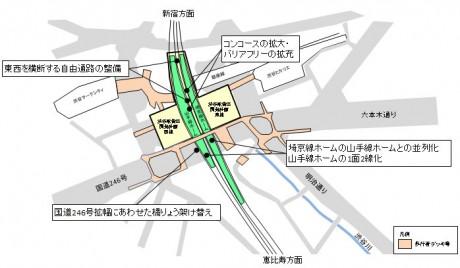 改良工事の計画図