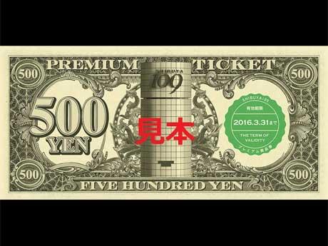 プレミアム商品券のイメージ