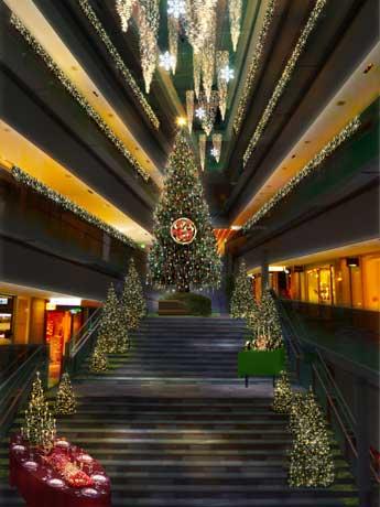 高さ8メートルのツリーなど「人々が集う場所」をテーマにしたイルミネーション装飾のイメージ