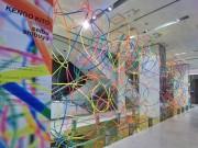 西武渋谷店で現代美術作家・鬼頭健吾さん作品展示 カラフルな色使いで「春」表現