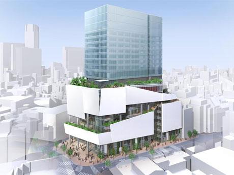 新築するビルの完成イメージ(北側から望む)