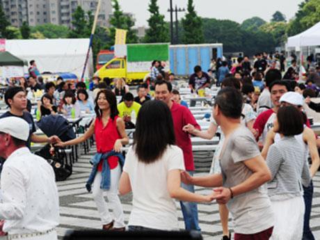 昨年駒沢公園で開催した際の会場の様子