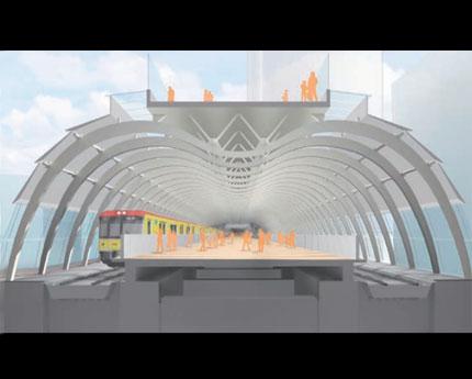 移設工事後の銀座線渋谷駅ホームのイメージ