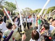 渋谷ヒカリエで「チャンバラ」プチ体験 地方創生トーク企画の一環