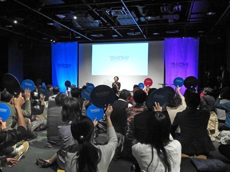 「TOKYO WORK DESIGN WEEK」初日、林千晶さんのセッションの様子