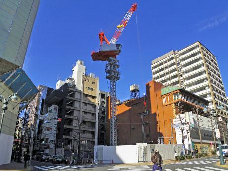 「KOE」が出店するビルの建築が進む渋谷パルコ・パート2跡