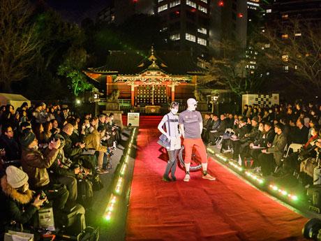 渋谷・金王八幡宮でファッションショー 中川翔子さんフィナーレ飾る
