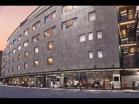 ホテルやオフィス、店舗で構成するB棟の外観イメージ(提供:東急電鉄)