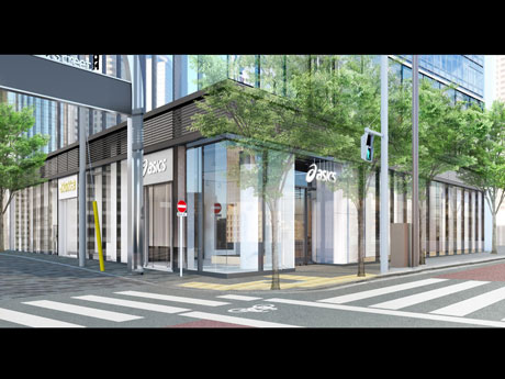 明治通りと竹下通りの交差点に位置する店舗概観イメージ
