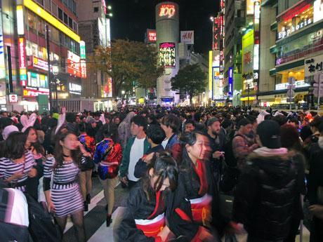 多くの人が集まった渋谷