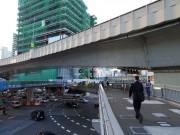 渋谷東口歩道橋、対角線部分が閉鎖へ 架け替え工事の一環