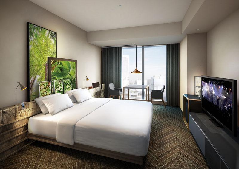 「渋谷ストリーム エクセルホテル東急」の客室イメージ(写真提供:東急電鉄)