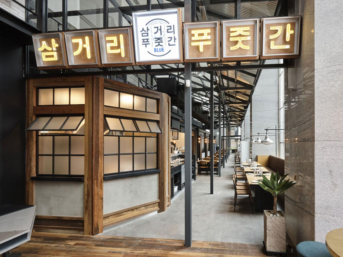 ソウル「YG REPUBLIQUE IFC」店の外観